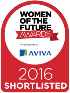 Karla Jobling was shortlisted for Entrepreneur of the Year at the 2016 Women of the Future Awards